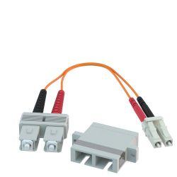 SC Female to LC Male 62.5/125 OM1 Multimode Duplex Hybrid Adapter Converter Dongle