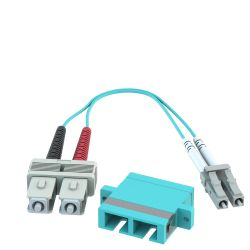 SC Female to LC Male 10GB 50/125 OM3 Multimode Duplex Hybrid Adapter Converter Dongle