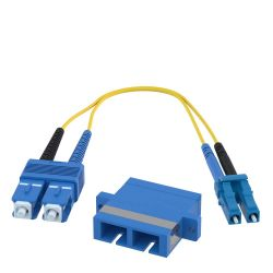 SC Female to LC Male 9/125 OS1 Singlemode Duplex Hybrid Adapter Converter Dongle