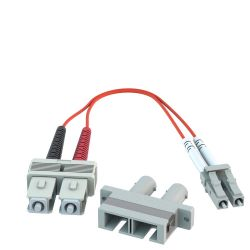ST Female to LC Male 50/125 OM2 Multimode Duplex Hybrid Adapter Converter Dongle