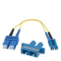 ST Female to LC Male 9/125 OS1 Singlemode Duplex Hybrid Adapter Converter Dongle