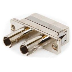 SC/ST Female to Female SM/MM Metal Duplex Fiber Coupler