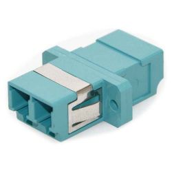 LC/LC Female to Female Multimode Duplex Fiber Coupler Aqua