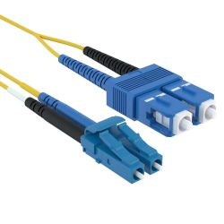 1m LC/SC Duplex 9/125 Single Mode Fiber Patch Cable