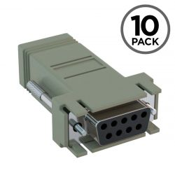 DB9 Female to RJ45 Female Console Adapter for Cisco CAB-9AS-FDTE (10-Pack)