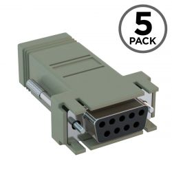 DB9 Female to RJ45 Female Console Adapter for Cisco CAB-9AS-FDTE (5-Pack)