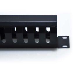 1U Horizontal 16 Slot Universal Cable Rack Manager Metal