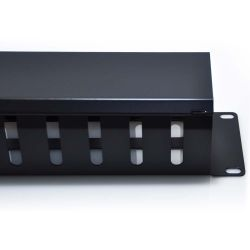 2U Horizontal 12 Slot Universal Cable Rack Manager Metal