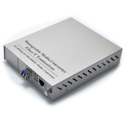 10/100/1000TX to 1000LX with Singlemode LC SFP 10KM SNMP Managed Media Converter