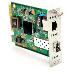 10/100/1000TX to 1000SX/LX Media Converter Card with SFP Slot