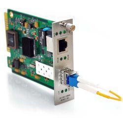 10/100/1000TX to 1000LX SFP with Singlemode LC Connector 10KM Media Converter Card