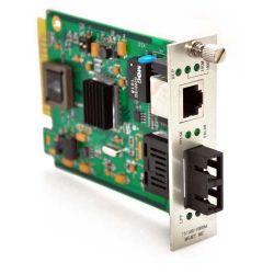 10/100/1000TX to 1000LX Singlemode 30KM SC Connector Media Converter Card