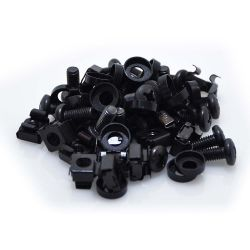 Cage Nut and Screw Kit M6x12 Black 20-Pack