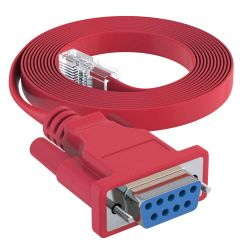 6ft DB9 Female to RJ45 Male Rollover Console Cable for Cisco Red