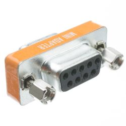DB9 Female to DB9 Female Mini Null Modem Adapter
