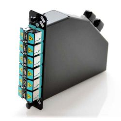 MTP 24 Port OM4 LGX Cassette with Single 24 Position MTP and Shuttered LC Adapters