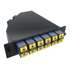 MTP 24 Port LC Cassette with 12 LC Singlemode Duplex Adapters