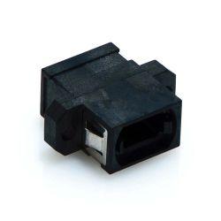 MTP/MPO Key Up-Up Fiber Optic Coupler Black
