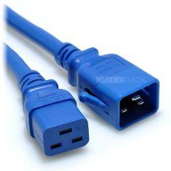 5ft IEC60320 C20 P-Lock Locking Plug to C19 Female Connector 12/3 20AMP 250V SJT Power Cord Blue