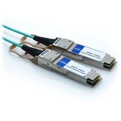 15m QSFP+ to QSFP+ Arista Compatible 40GbE Fiber Optic Active Cable