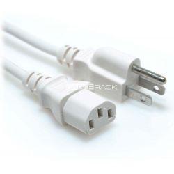 10ft NEMA 5-15P Male Plug to IEC60320 C13 Female Connector 18/3 10AMP 125V SVT Power Cord White
