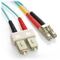 15m LC/SC 10Gb Duplex 50/125 Multimode Bend Insensitive Fiber Patch Cable Aqua