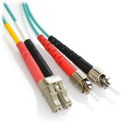 8m LC/ST 10Gb Duplex 50/125 Multimode Bend Insensitive Fiber Patch Cable Aqua