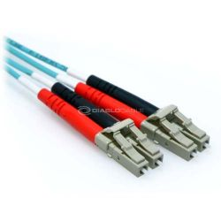 80m 10 Gb Plenum LC/LC Duplex 50/125 Multimode Fiber Patch Cable Aqua