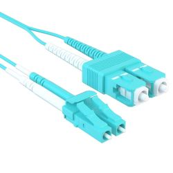 30m LC/SC 40/100GB Duplex 50/125 Multimode OM4 Fiber Patch Cable Aqua