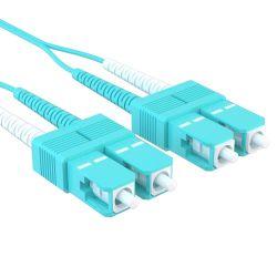 0.5m SC/SC 40/100GB Duplex 50/125 Multimode OM4 Fiber Patch Cable Aqua