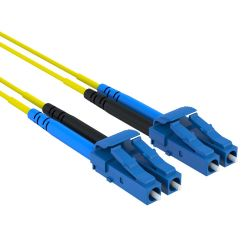 2.5m LC/LC Duplex 9/125 Single Mode Fiber Patch Cable Yellow