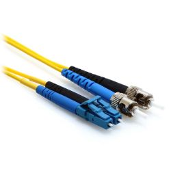 3m LC/ST Duplex 9/125 Single Mode Fiber Patch Cable Yellow