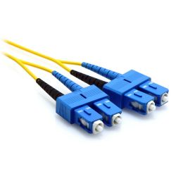 3m SC/SC Duplex 9/125 Single Mode Fiber Patch Cable Yellow