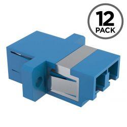 LC to LC Coupler Female to Female Singlemode Duplex Fiber Optic Adapter (12 Pack)