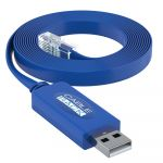 10 Foot USB to RJ45 Rollover Console Cable with Built in FTDI Micro Chip for Cisco Devices by CableRack